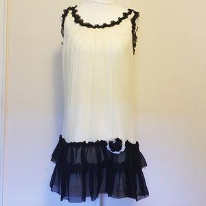 Betsey Johnson Silk 20s Flapper Dress